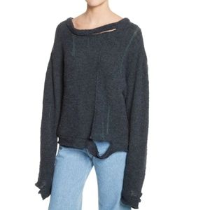 Eckhaus Latta Wiggly Road Distressed Sweater Med